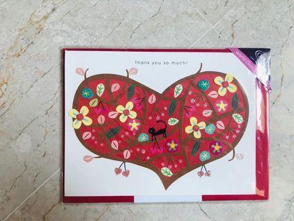 🚚 Greeting Birthday Card Thank You Love Heart