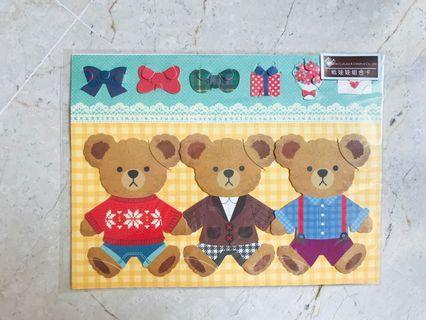 🚚 Greeting Birthday Card Bear Cartoon Animal