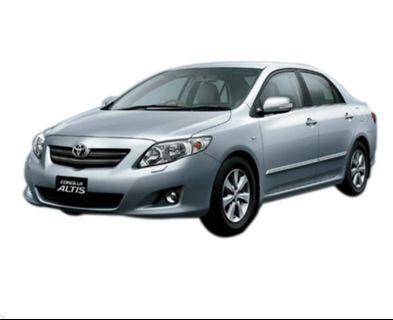 Toyota altis 1.6 for rent