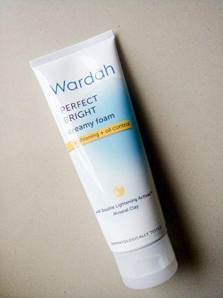 Wardah Perfect Bright Creamy Foam Brightening + Oil Control 100ml #astarigiveaway