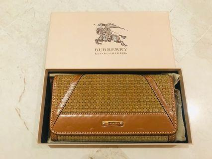 🚚 100% Authentic Burberry Genuine Leather Long Wallet (with original dust bag and box)