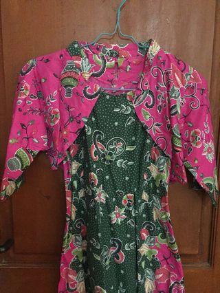 Dress batik+bolero