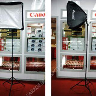 (Put your flash inside) 2 unit of 60 x 60cm Softbox + 3m Light Stand