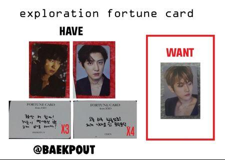 wtt exo chanyeol chen to baekhyun exploration fortune scratch card