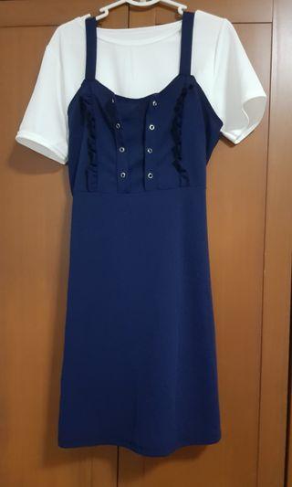 Brand New set of Navy Blue Dress (2 pcs)