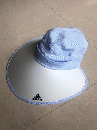 Adidas 愛迪達抗UV超美藍白色遮陽帽