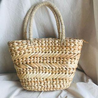 Natural Color Anyaman Bag