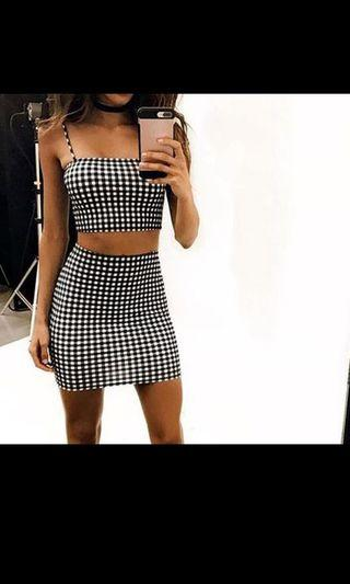 PREORDER Checkered 2 Piece Set