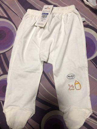 Kidding palace L/pant w bootee & embr