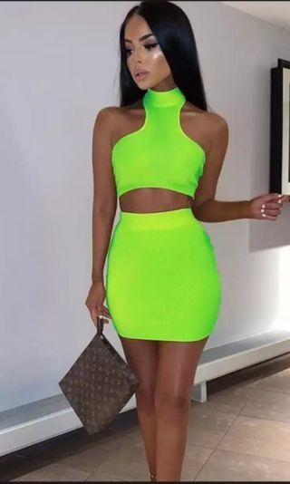 🚚 PREORDER Neon Bodycon Set