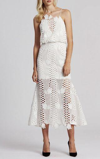 Alice Mccall Ins White Guipure Dress