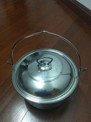 Stainless steel hanging pot camping new old stock
