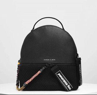 CHARLES & KEITH - TWO ZIP BACKPACK