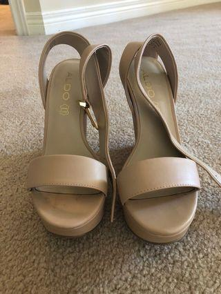 Size 6 Nude Wedges from ALDO