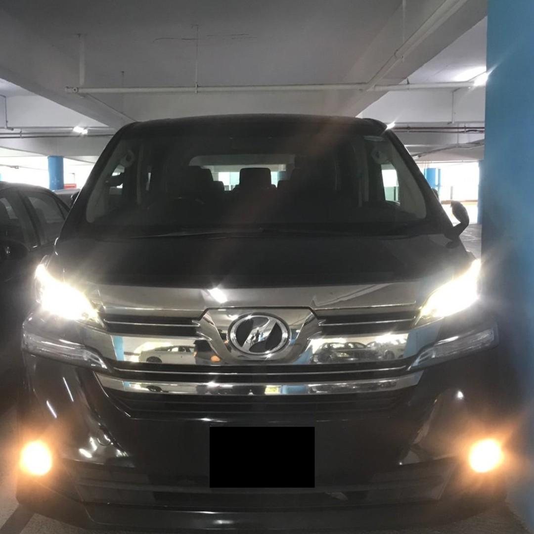 🌟🌟 Toyota Vellfire 2.5 Auto New facelift for rent 8 seater