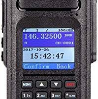 Ailunce HD1 DMR Radio Dual Band Waterproof 2 Way Radio 3000 Channels 200000 Contacts with 3200mAh Battery Dual Time Slot FM Broadcast DTMF LCD Display(1 Pack)