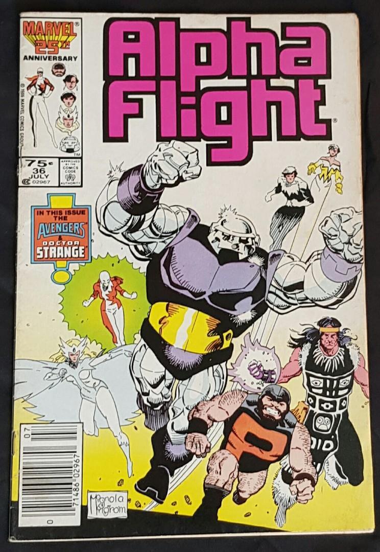 alpha flight #36 marvel comics comic comicbook