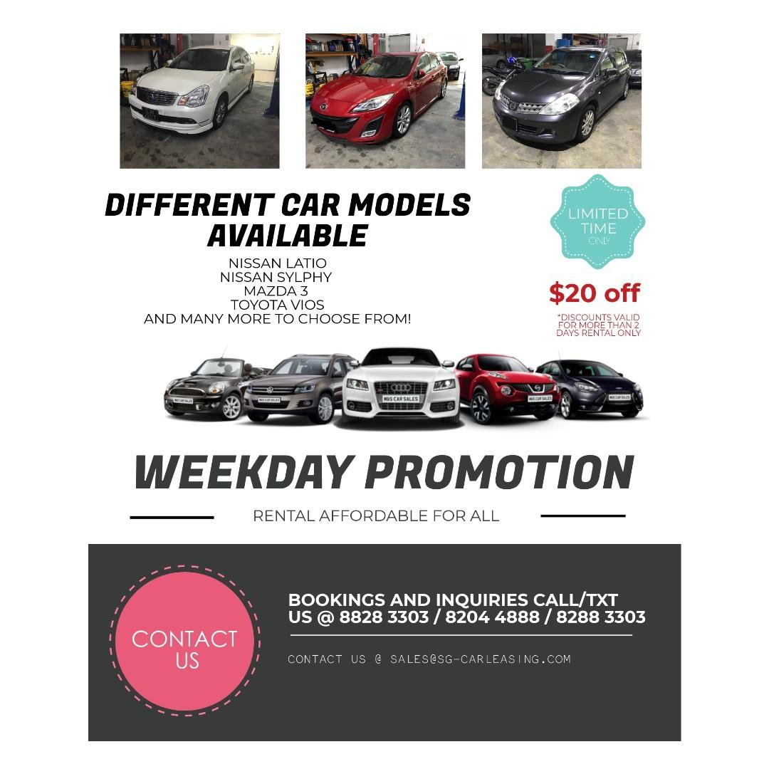 AUGUST WEEKDAY PROMO!!