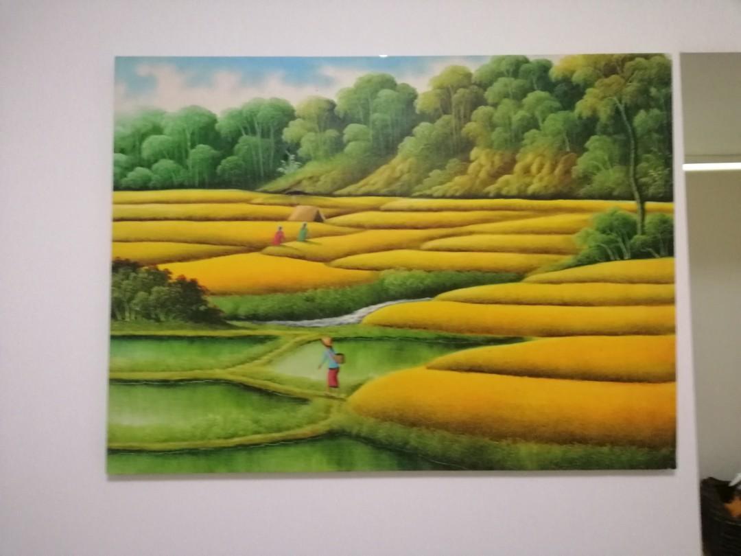 Bali Oil Painting - framed