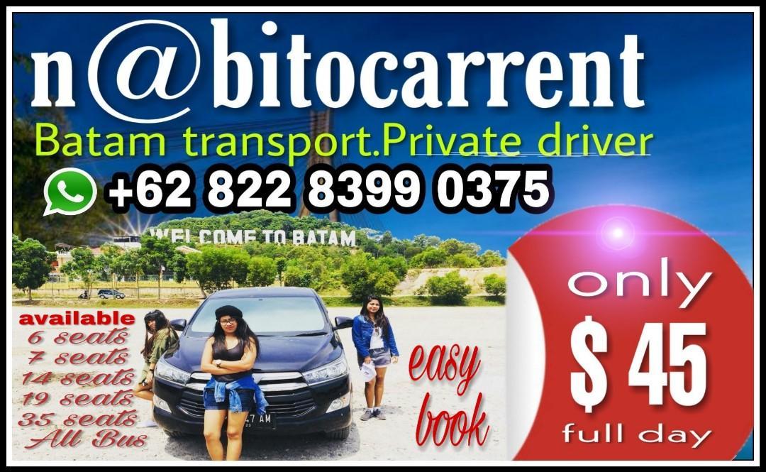 Batam transport. Private driver.             Whatsapp +6282283990375