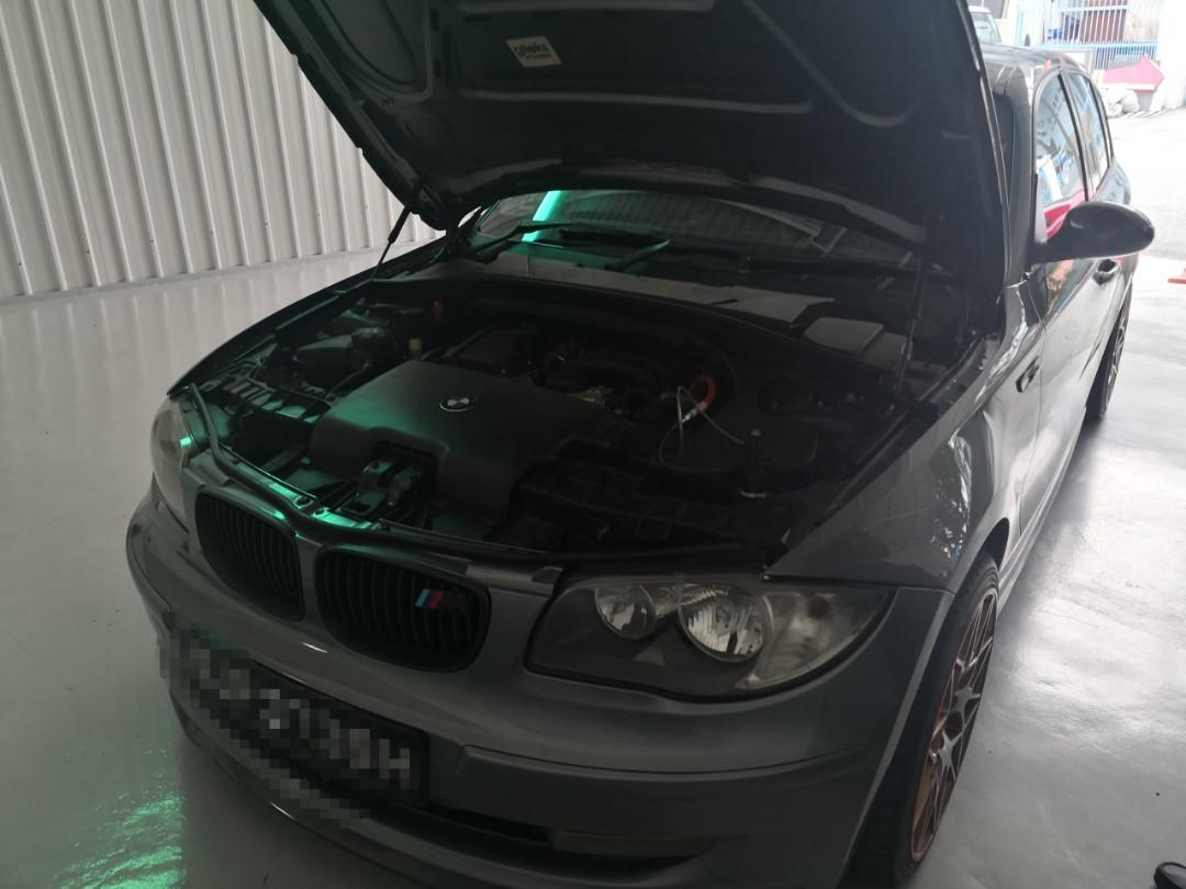 BMW 120I came in for exhaust systems cleaning!