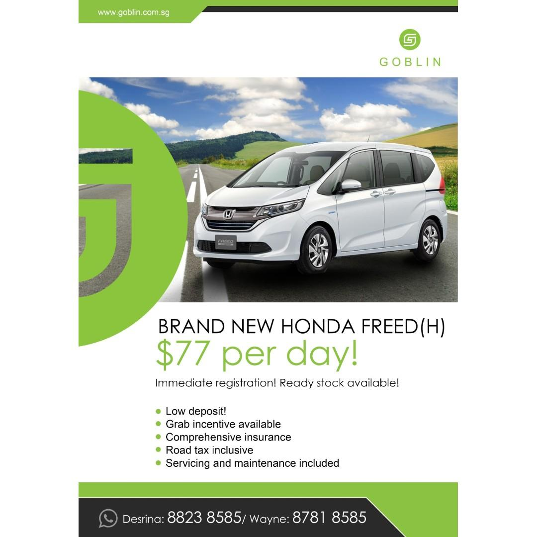 Brand New Honda Freed Hybrid For Rent