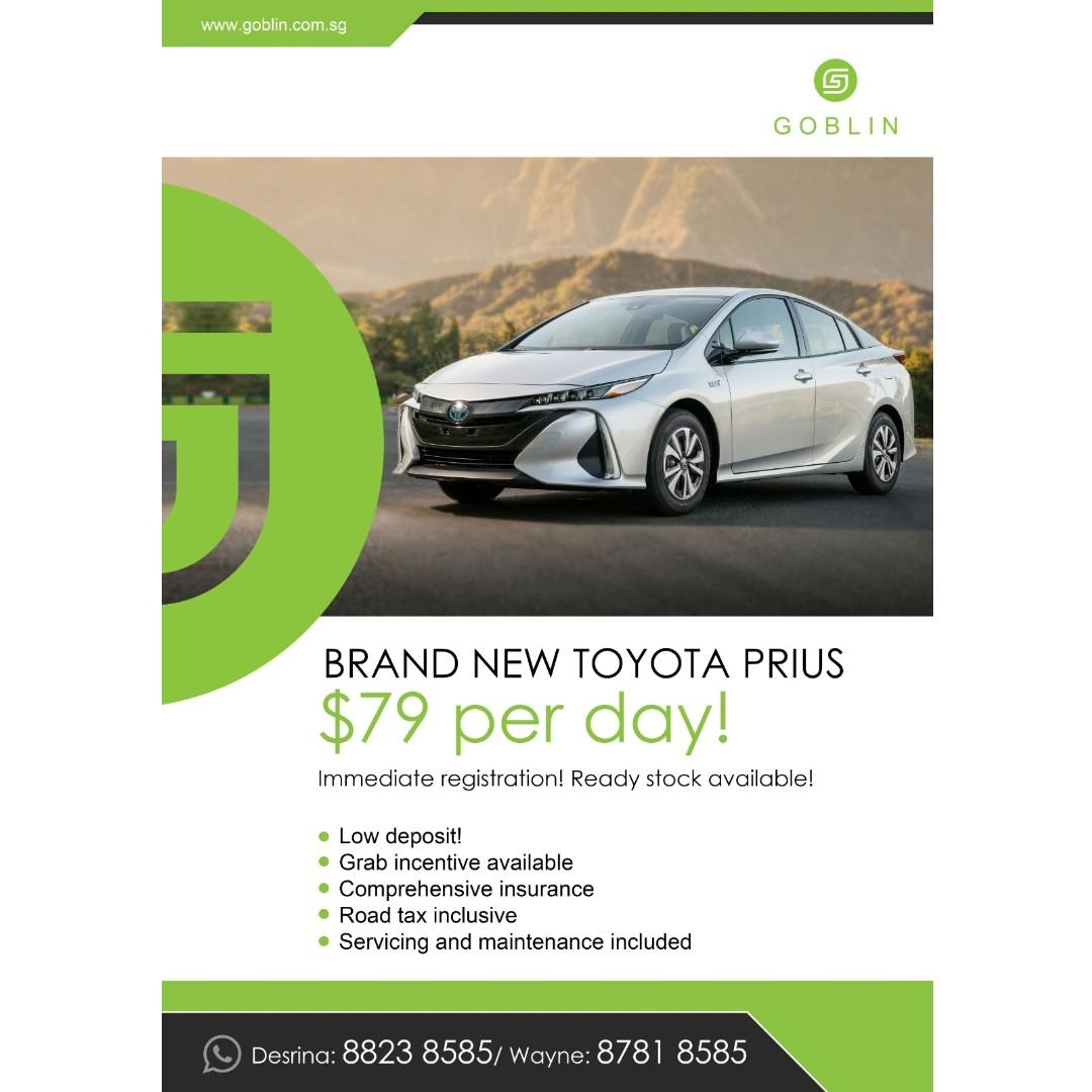 Brand New Toyota Prius For Rent