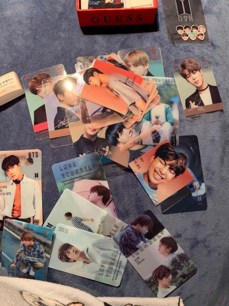 BTS transparent photo cards