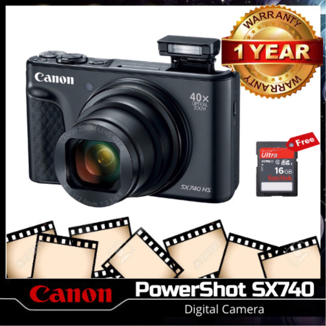 Canon Sx740 Hs Digital Camera Black Photography Cameras Digital Cameras On Carousell
