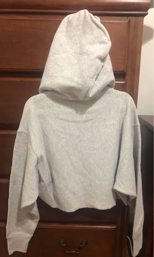 Champion crop zip hoodie