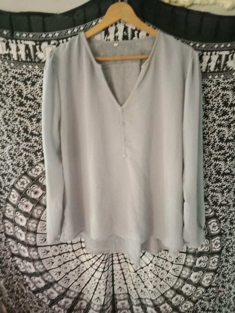 Chiffon grey shirt