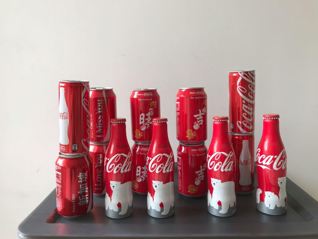 Coke Bottles And Cans