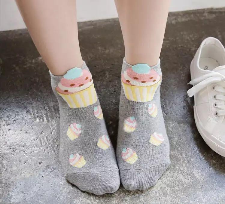 Cupcake Ankle Socks