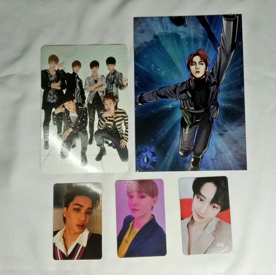 EXO Official Album Photocards (Baekhyun, Chanyeol, Chen, Kai)