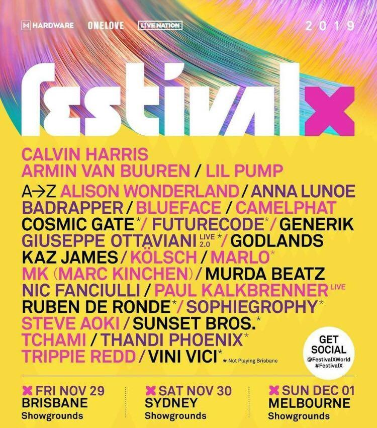 FestivalX 2019 Hardcopy Tickets