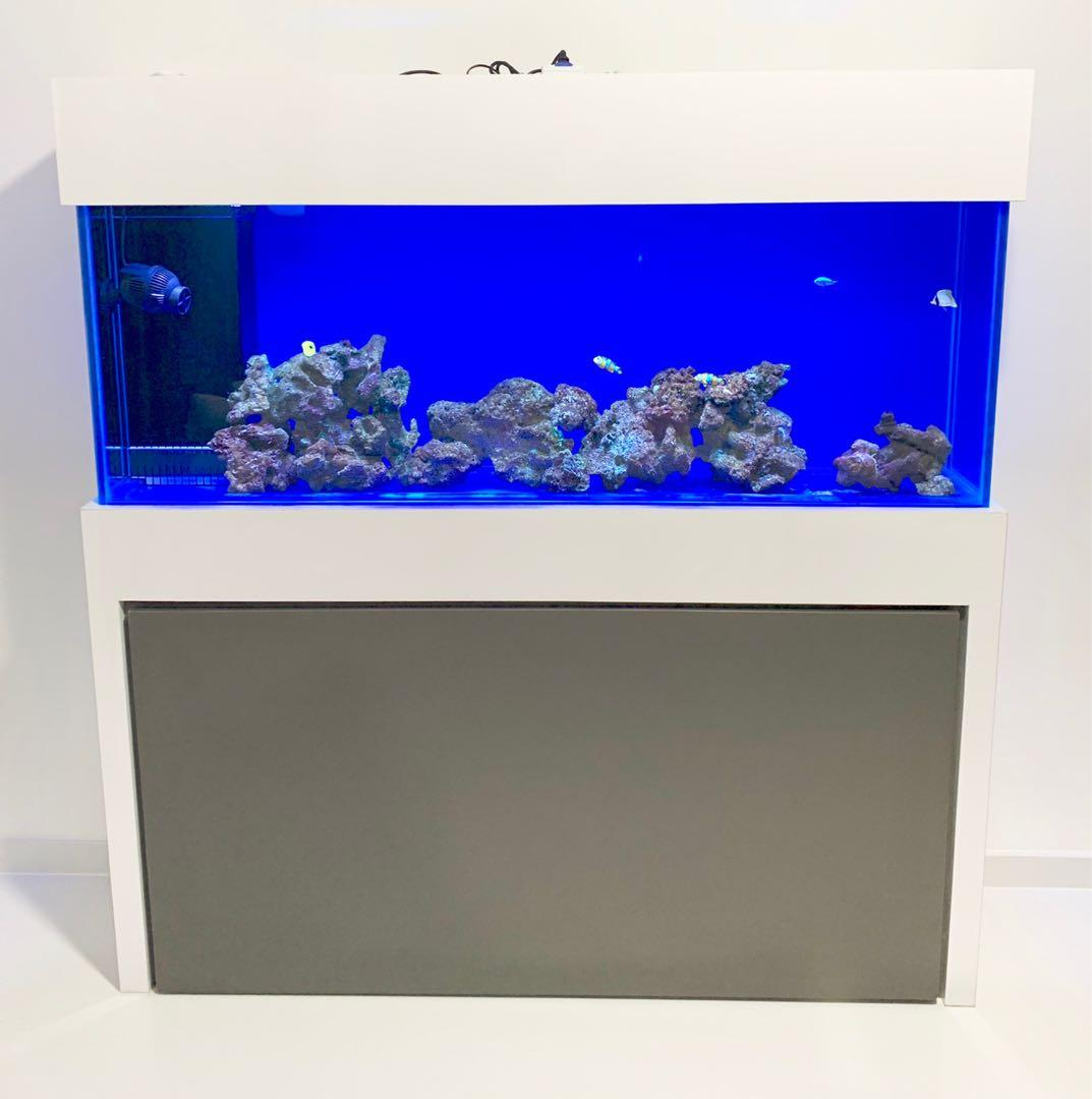 Fish Tank Cabinet Cum Dining Table