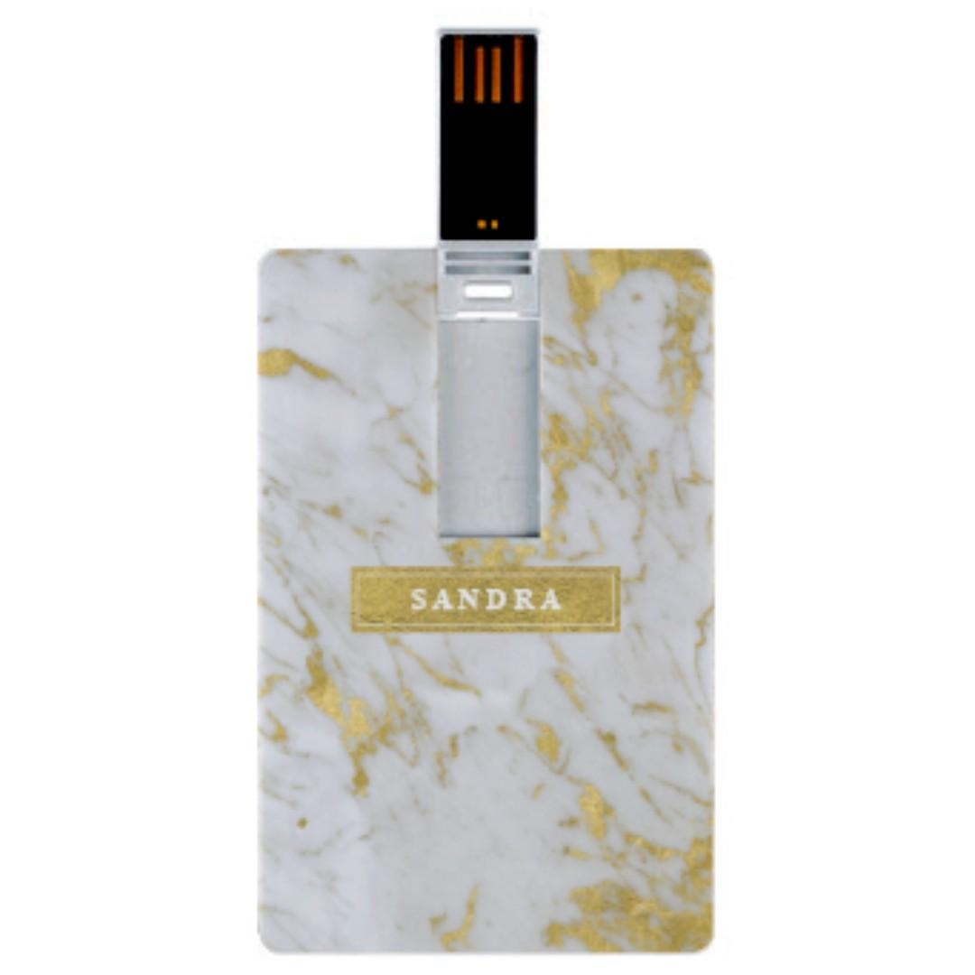 Gold Marble USB Thumbdrive Flashdrive