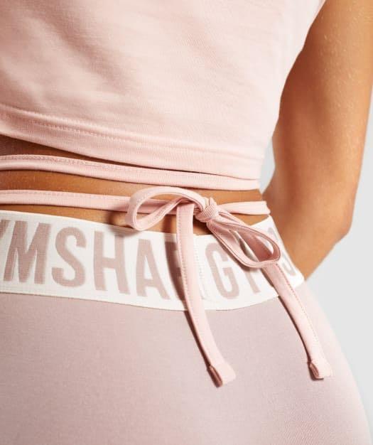 Gymshark ribbon crop shirt