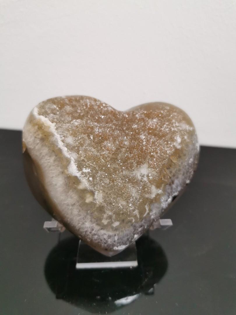 Heart shape amethyst Crystal ZYH 01