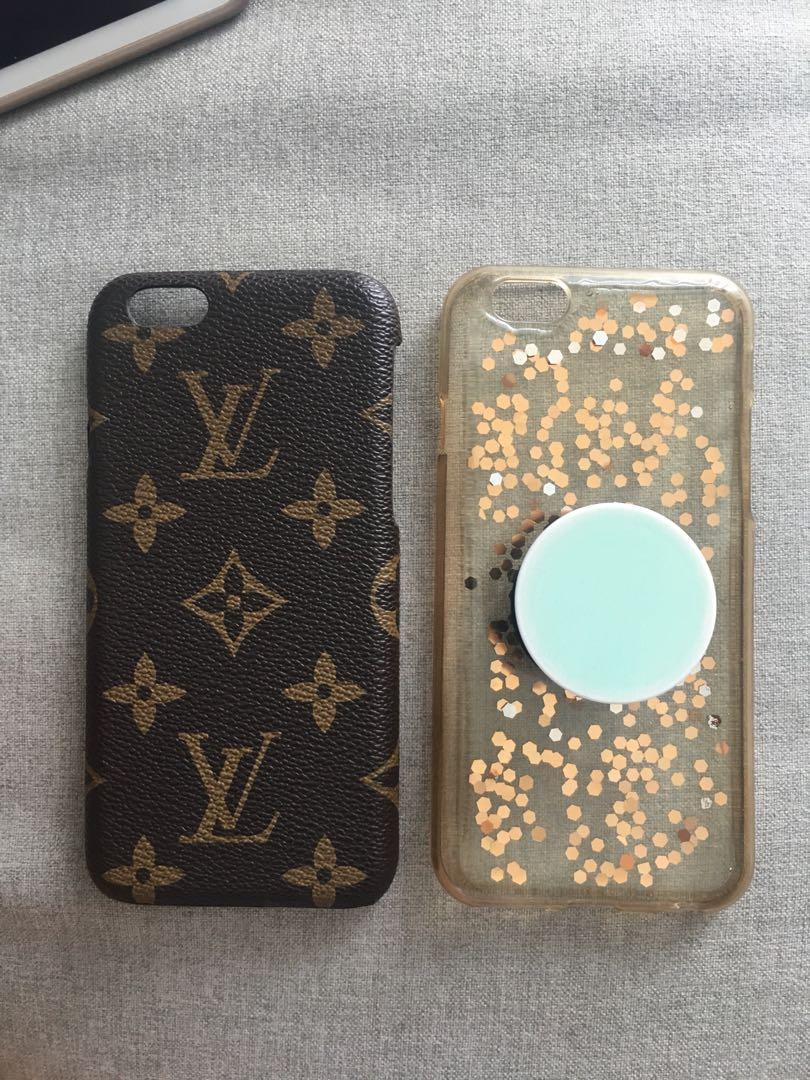 iPhone 6s Phone Case - Louis Vuitton and Clear Glitter Case ...