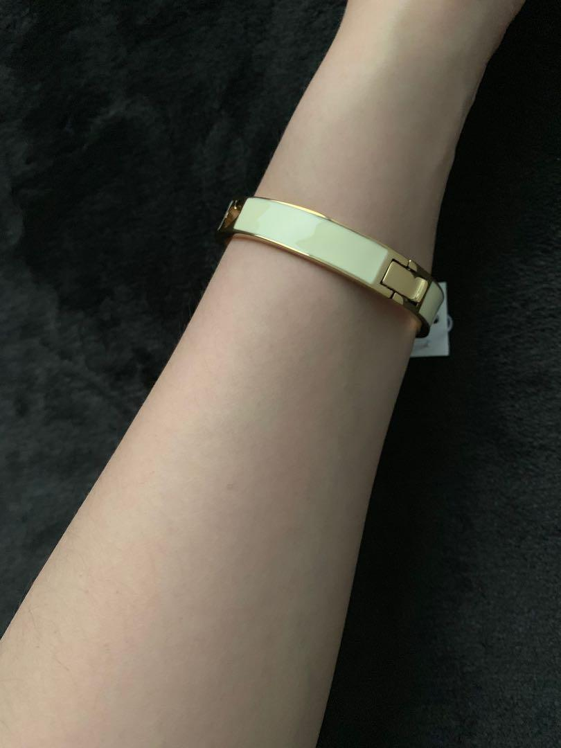 Kate Spade Cream/Gold Bangle
