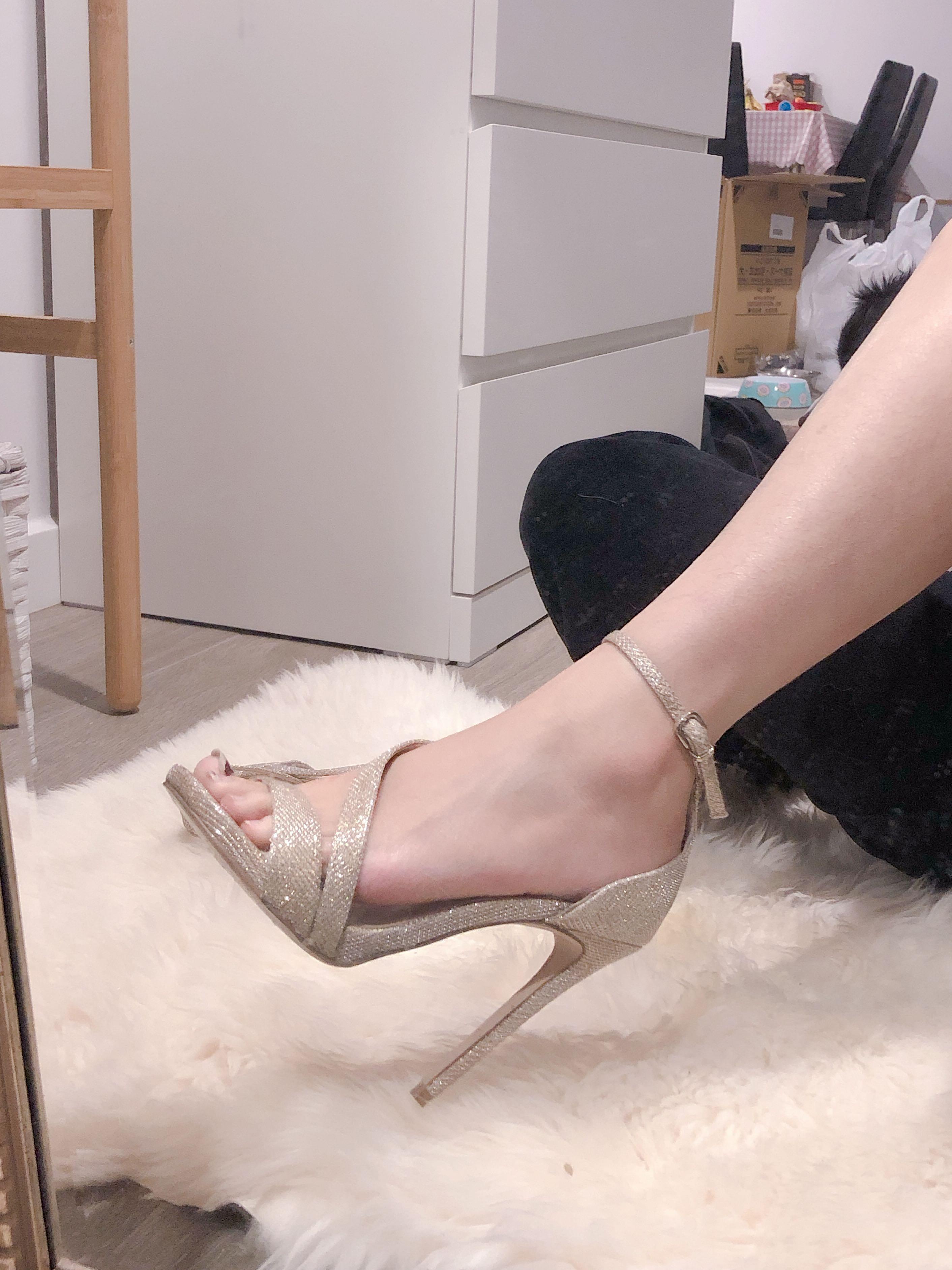 Kurt Geiger Carvela gold shining strappy heels sz5-6