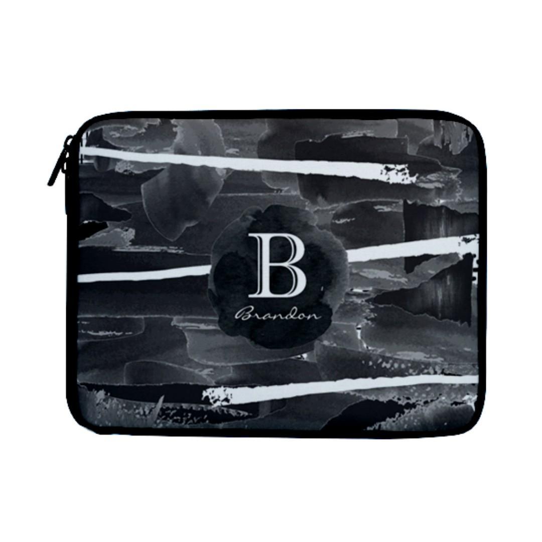 Laptop Case Casing Cover Bag Black Watercolour