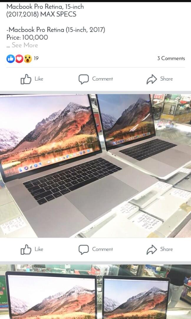Macbook Pro retina 15inch (2017) max specs on Carousell