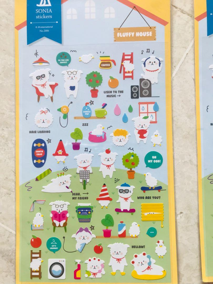 [Made in Korea] Sticker Sheets Fluffy House