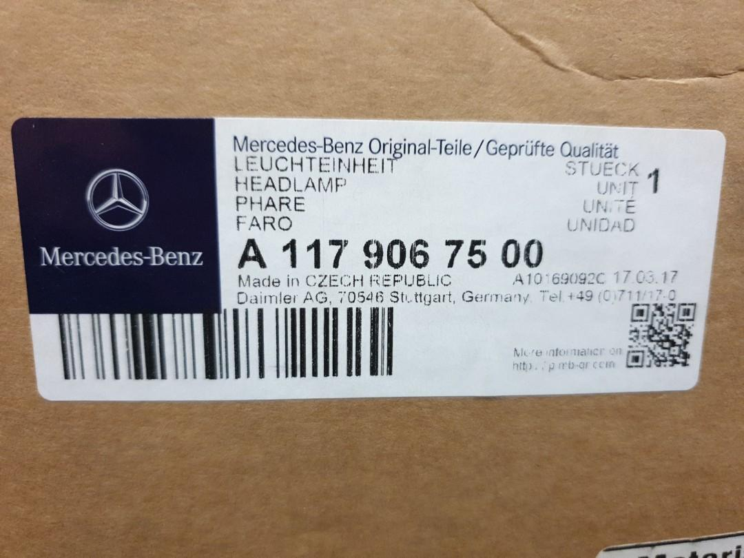 Mercedes Benz Head Lamp Headlamp