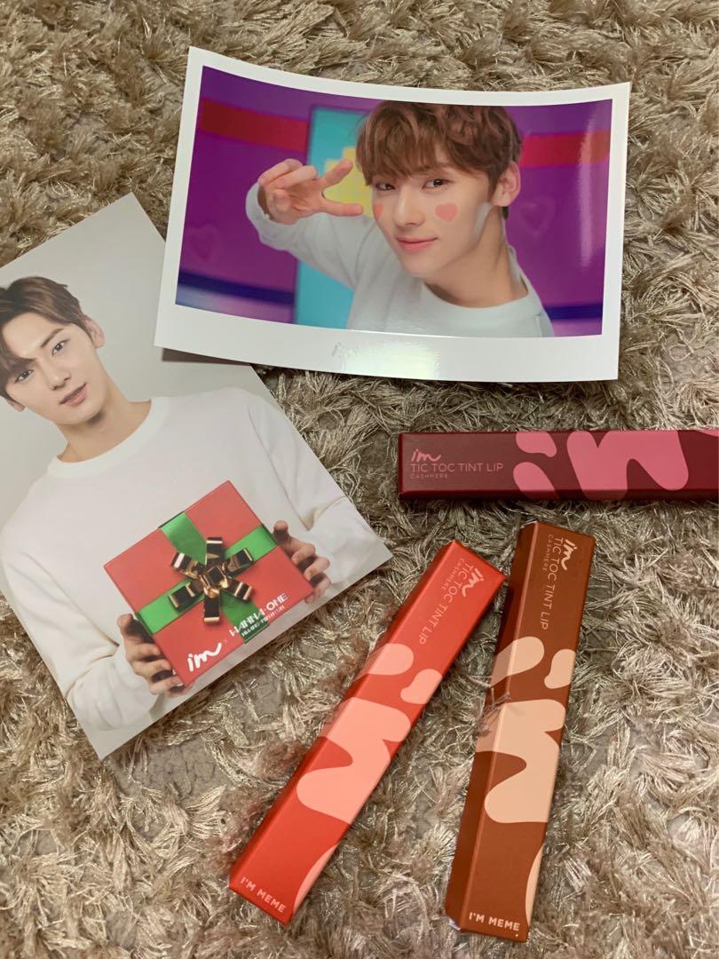 Minhyun Im meme mirror, photocard, poster, lipstick