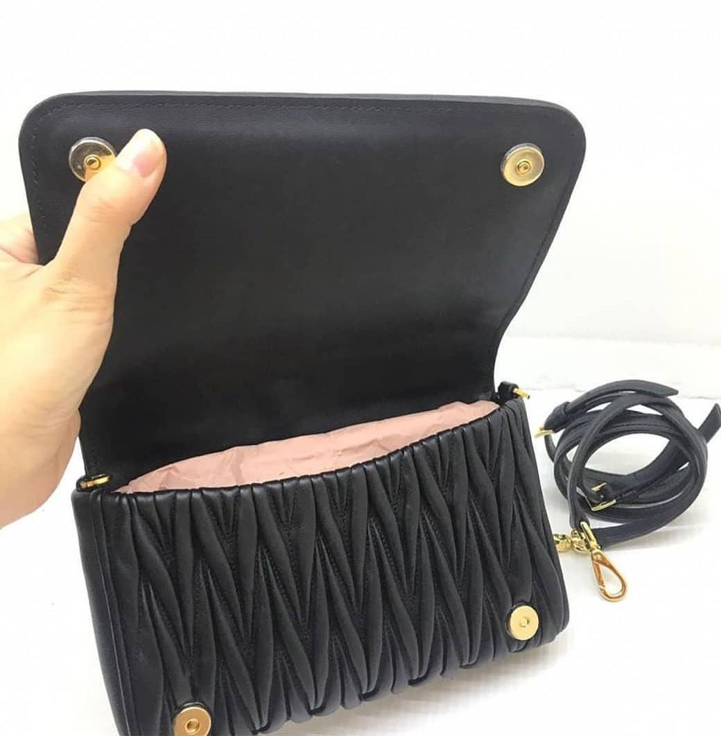 Never been used Miu miu mini black 20x14cm black ghw complete no box  only