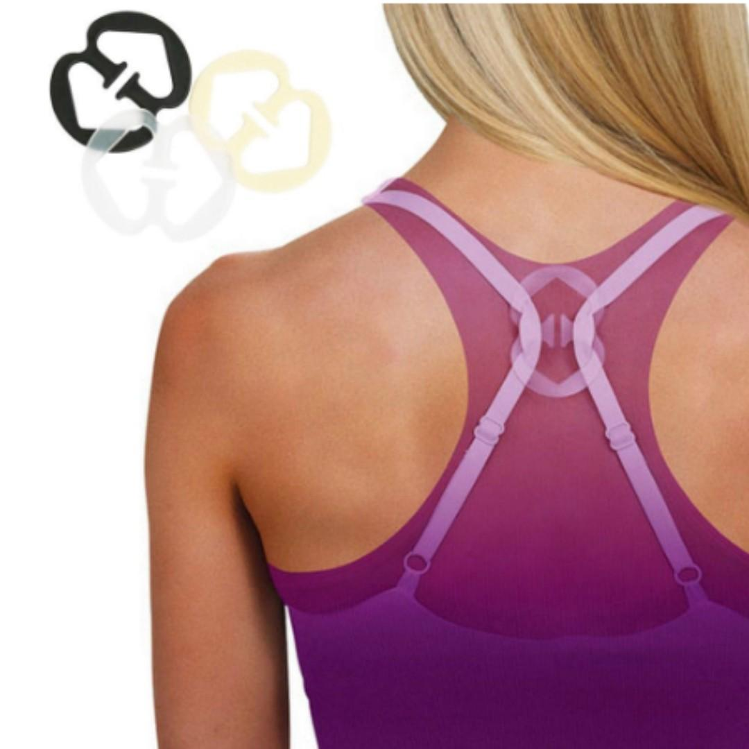 NEW 3Pcs Bra Invisible Clips Hide Bra strap Lift adjust enhance cleavage Buckle Clip