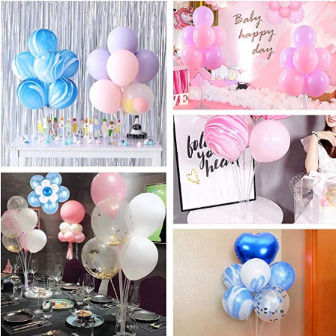 NEW Balloon Stand Clear Table Holder Party Decoration
